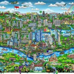 Charles Fazzino features Singapore in original artwork